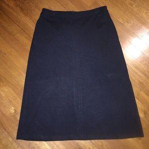J.Jill Ponte Knit Midi Skirt